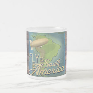 Fly To South America Frosted Glass Coffee Mug