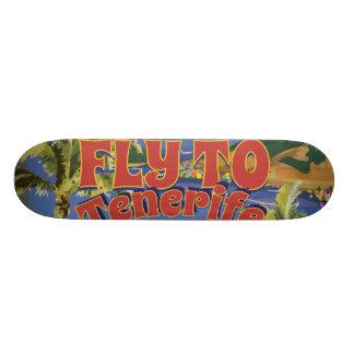 Fly To Tenerife Vintage Travel Poster Skateboard Deck