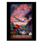 Fly To The Caribbean Pan American World Airways Postcard
