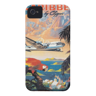 Fly to the caribbean vintage poster 50s iPhone 4 Case-Mate case