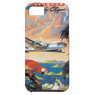 Fly to the caribbean vintage poster 50s iPhone SE/5/5s case