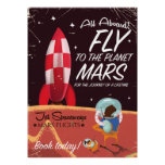 Fly to the Planet Mars! Vintage travel poster