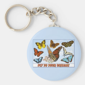 Fly To Your Dreams Basic Round Button Keychain