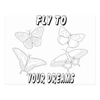 Fly to Your Dreams Postcard