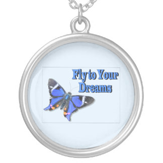 Fly To Your Dreams Silver Plated Necklace