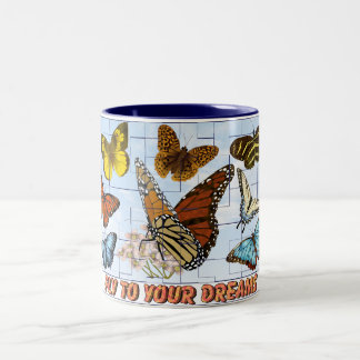 Fly To Your Dreams Two-Tone Coffee Mug