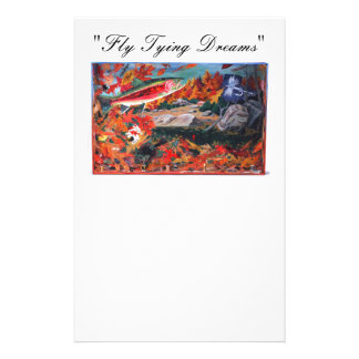 """""""Fly Tying Dreams"""" Dry Fly Stationery"""
