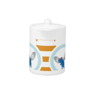 Fly with Bee Design Teapot