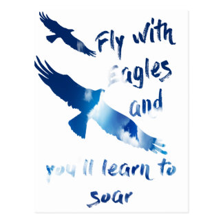 Fly with eagles postcard