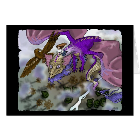 Fly With Me!~Dragon Greeting Card