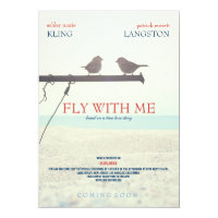 Fly with Me - Wedding Invitation
