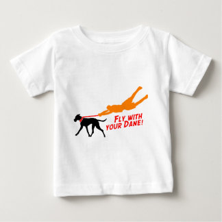 Fly With Your Dane Baby T-Shirt