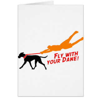 Fly With Your Dane Greeting Card