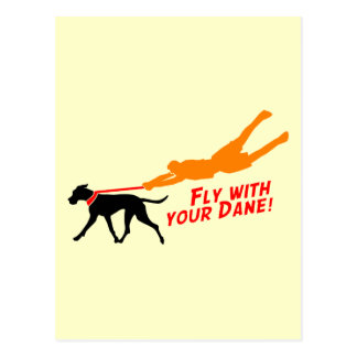 Fly With Your Dane Postcards