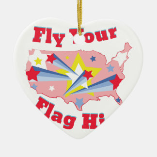 Fly Your Flag Ceramic Ornament