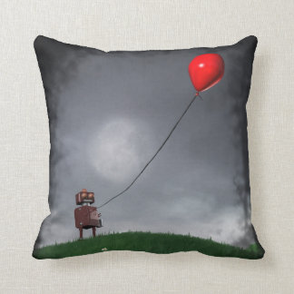 Fly Your Little Red Balloon Throw Pillow