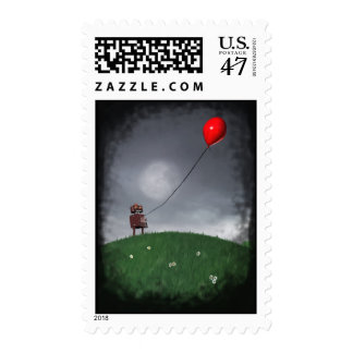 Fly Your Little Red Baloon Postage