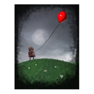 Fly Your Little Red Baloon Postcard