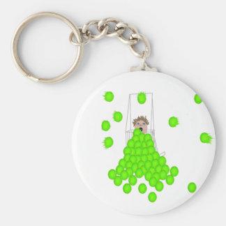 flyball ball shagger key chain