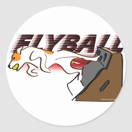 Flyball Boxturn Classic Round Sticker