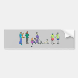 Flyball Crowd Color Bumper Sticker