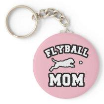 Flyball Dog Mom Keychain Gift