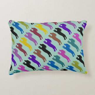 Flyball Dog Pattern Accent Pillow