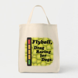 Flyball Drag Racing for Dogs Organic Grocery Tote