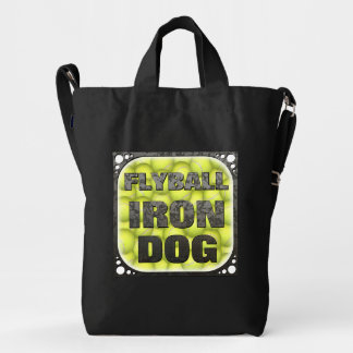 Flyball Iron Dog - 10 years of competition! Duck Bag
