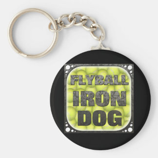 Flyball Iron Dog - 10 years of competition! Keychain