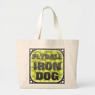 Flyball Iron Dog - 10 years of competition! Large Tote Bag