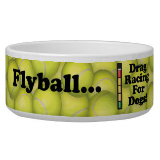 Flyball is Drag Racing for Dogs Lg Pet Bowl