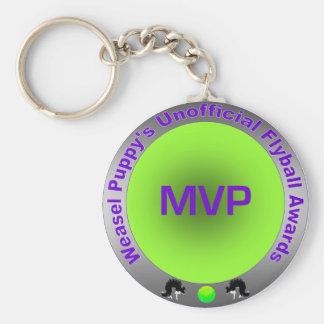 Flyball MVP Award Basic Round Button Keychain