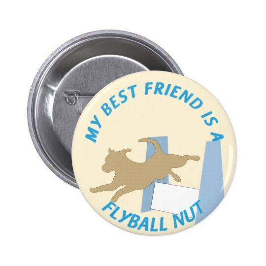 Flyball Nut Text Pinback Button