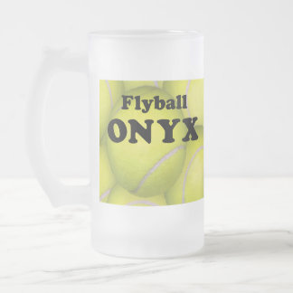 Flyball, ONYX Frosted Beer Mug