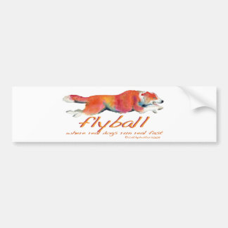 Flyball real dogs bumper sticker