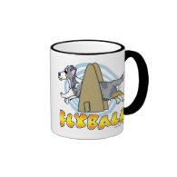 Flyball Sheltie Coffee Mugs