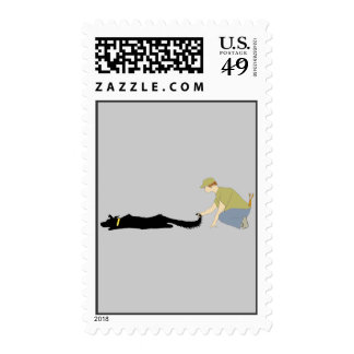 Flyball Start Dog Postage Stamp