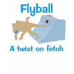 Flyball Twist Womens T Tshirt