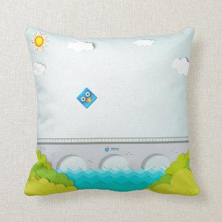 FlyBirdie - pillow - bridge and rainbow