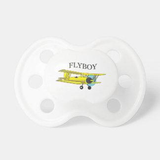 FLYBOY DEL BIPLANO CHUPETES DE BEBE