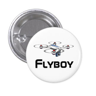 flyboy quadcopter drone button 1 inch round button