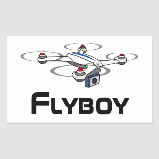 flyboy quadcopter drone sticker
