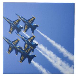 Flyby de los ángeles azules durante semana de 2006 azulejo cuadrado grande