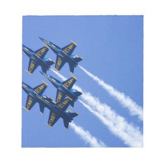 Flyby de los ángeles azules durante semana de 2006 bloc de papel