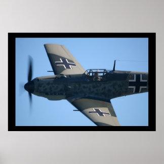 Flyby de Messerschmitt Bf-109E-3 Emilio Posters