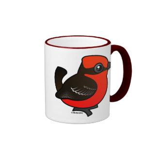Flycatcher bermellón lindo tazas de café