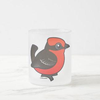 Flycatcher bermellón lindo taza