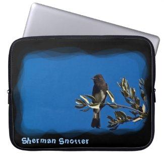 Flycatcher Black Edge 2 Laptop Sleeve