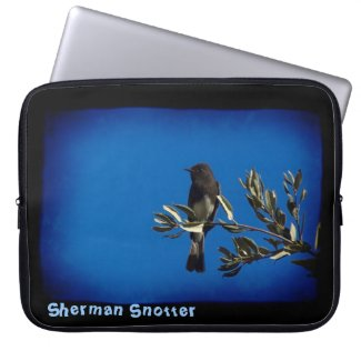 Flycatcher Black Edge Laptop Computer Sleeves